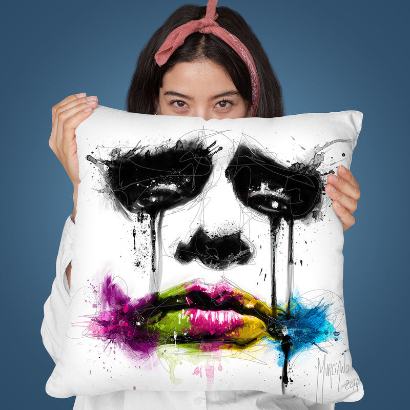 Joker Throw Pillow By Patrice Murciano