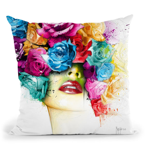 La Vie En Rose Throw Pillow By Patrice Murciano