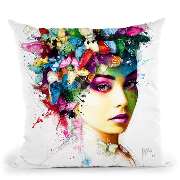 L'Effet Papillon Throw Pillow By Patrice Murciano