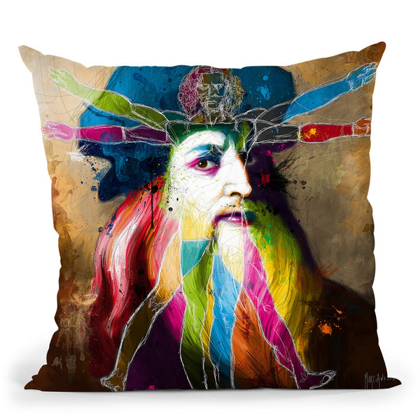 Leonard Throw Pillow By Patrice Murciano