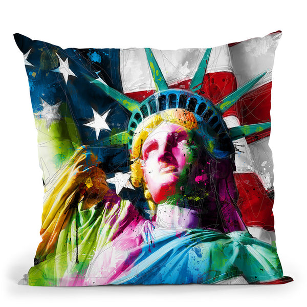 Liberty Throw Pillow By Patrice Murciano