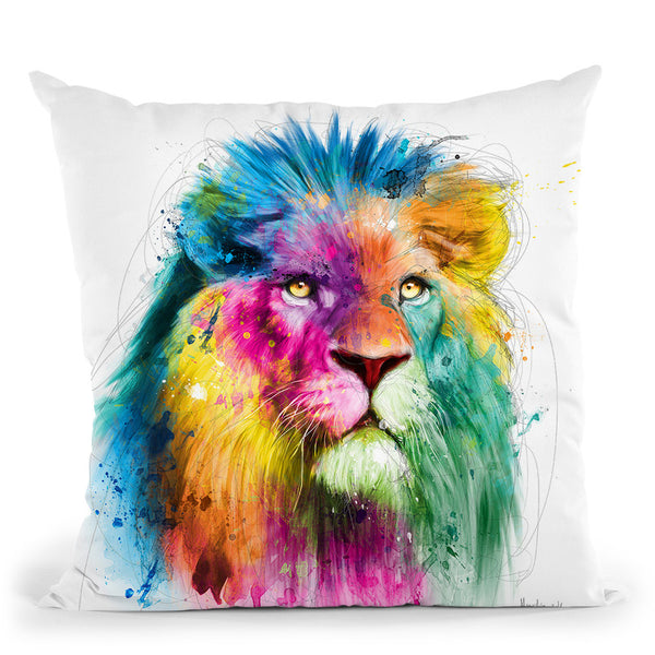Lion Throw Pillow By Patrice Murciano