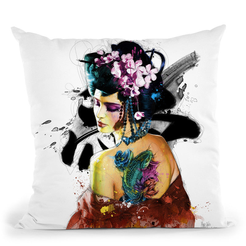 Memoirs Of A Geisha Throw Pillow By Patrice Murciano