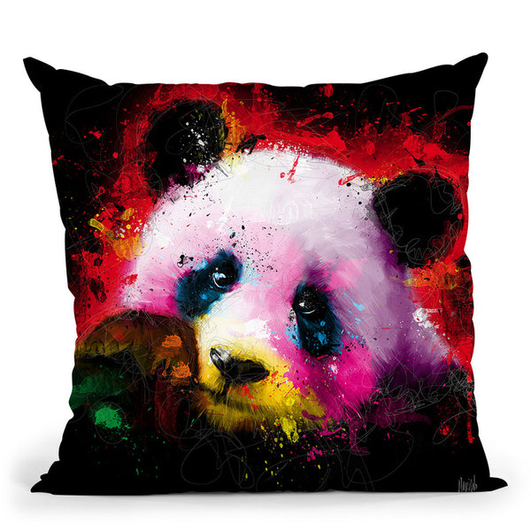 Panda Pop Throw Pillow By Patrice Murciano