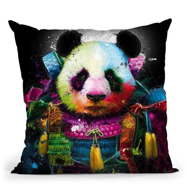 Panda Samourai Throw Pillow By Patrice Murciano