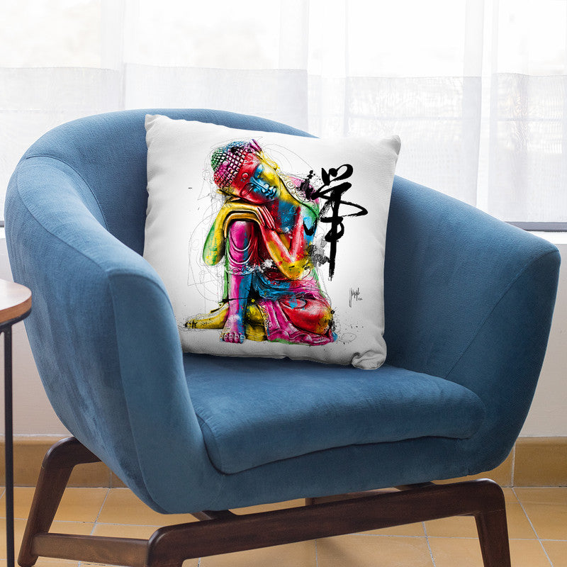 Bouddha Fengui Throw Pillow By Patrice Murciano