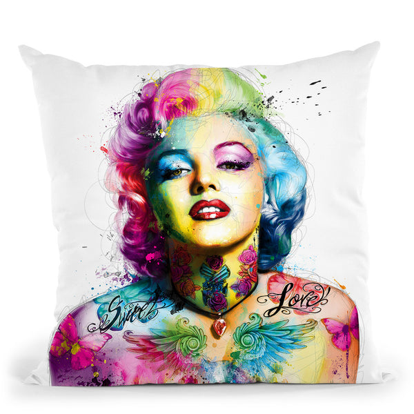 Poupoupidou Throw Pillow By Patrice Murciano