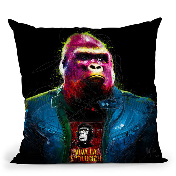Rock N' Kong Throw Pillow By Patrice Murciano