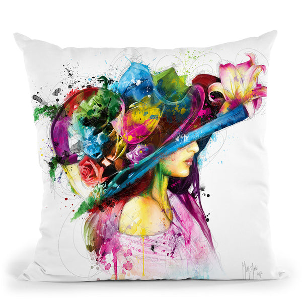 Romantic Flowers Throw Pillow By Patrice Murciano