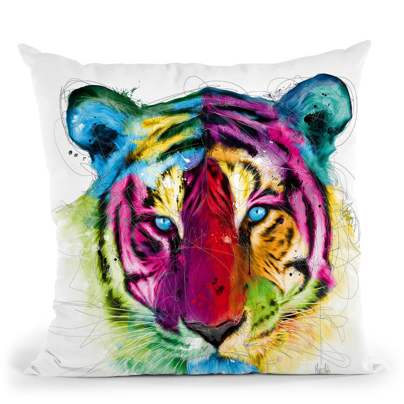 Tiger Throw Pillow By Patrice Murciano