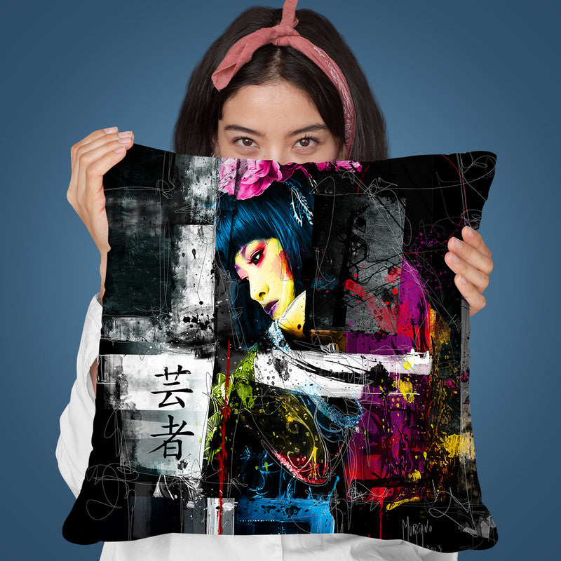 Tokyo Black Throw Pillow By Patrice Murciano