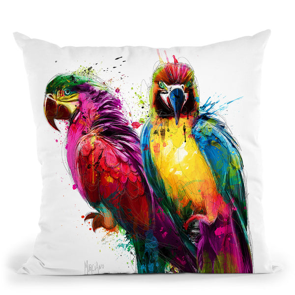 Tropical Colors Throw Pillow By Patrice Murciano