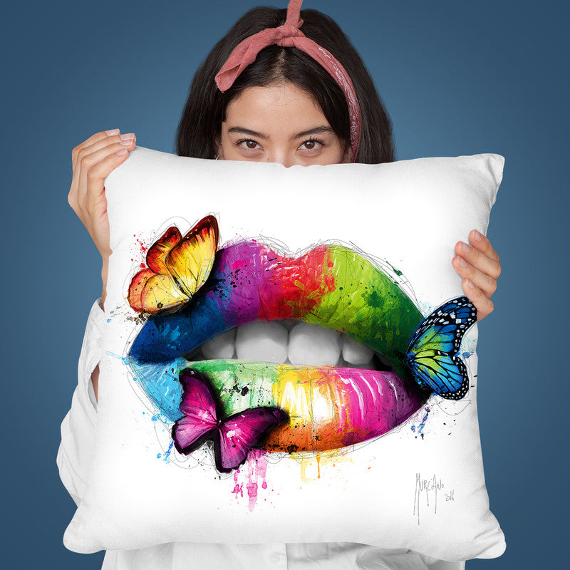 Butterfly Kiss Throw Pillow By Patrice Murciano
