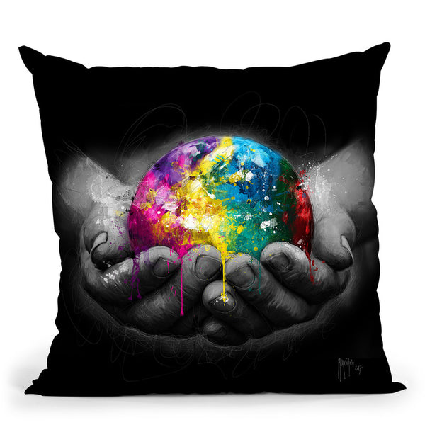 We Are The World Throw Pillow By Patrice Murciano