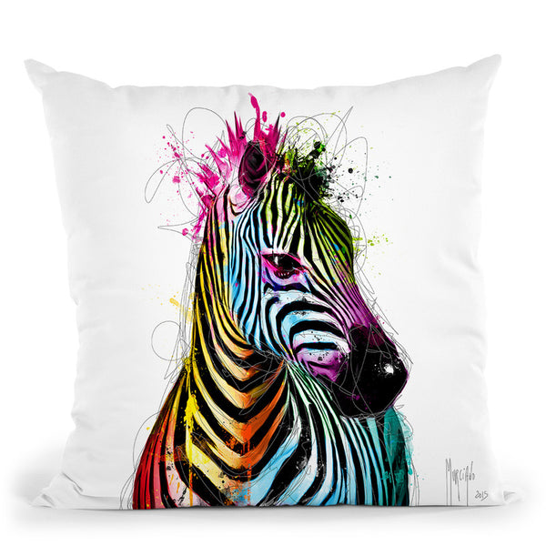 Zebra Pop Throw Pillow By Patrice Murciano