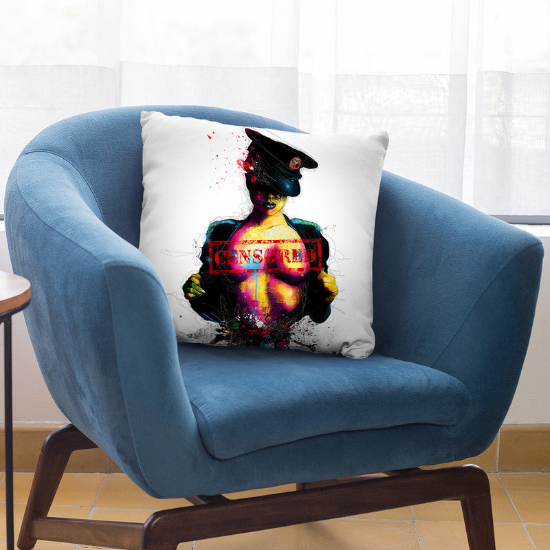 Censored Throw Pillow By Patrice Murciano