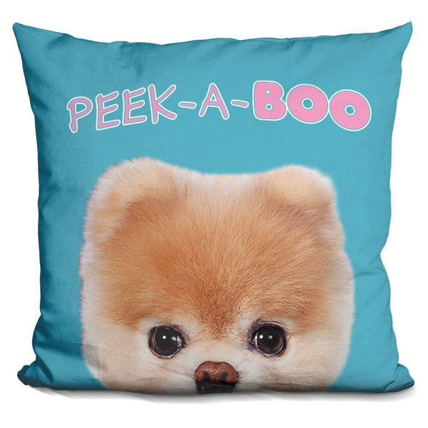 Boo PeekA Throw Pillow
