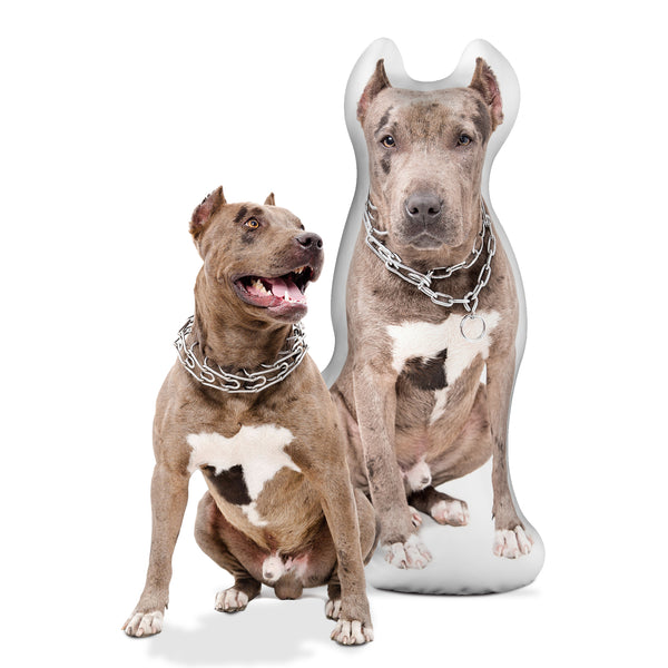 Custom Pitbull Shaped Dog Pillow