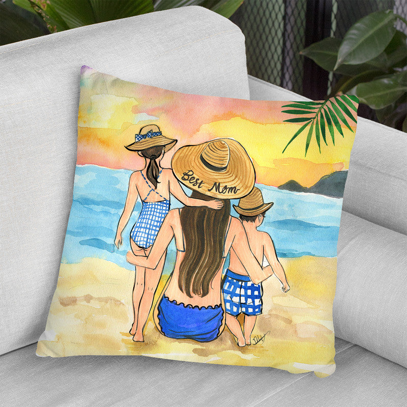 Best Mom 2019 Throw Pillow By Rongrong