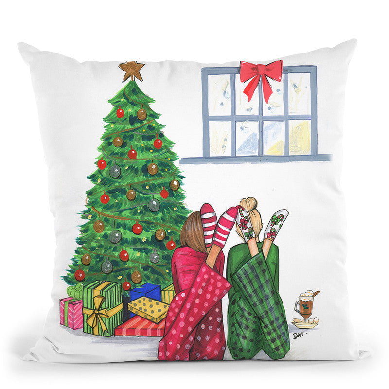 Christmas We Are Together Throw Pillow By Rongrong