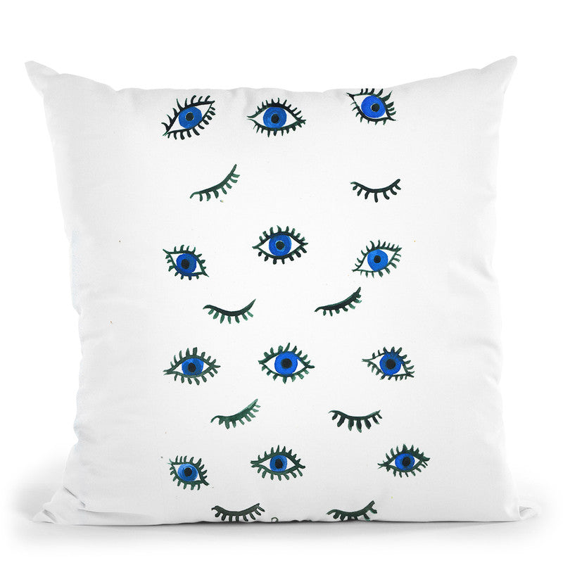 Evil Eyes Throw Pillow By Rongrong