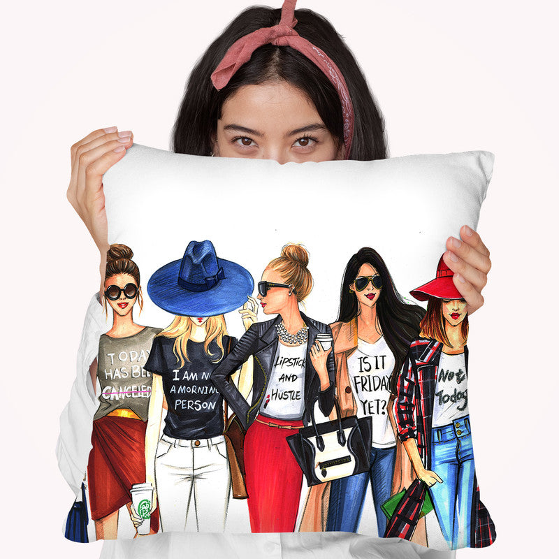 Fashionistas Gotta Have Fun Throw Pillow By Rongrong