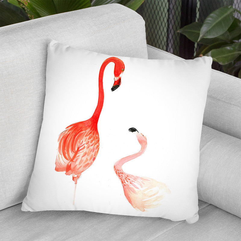 Flamingo Throw Pillow By Rongrong