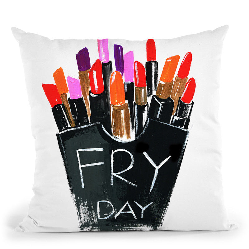 Fry Day Throw Pillow By Rongrong