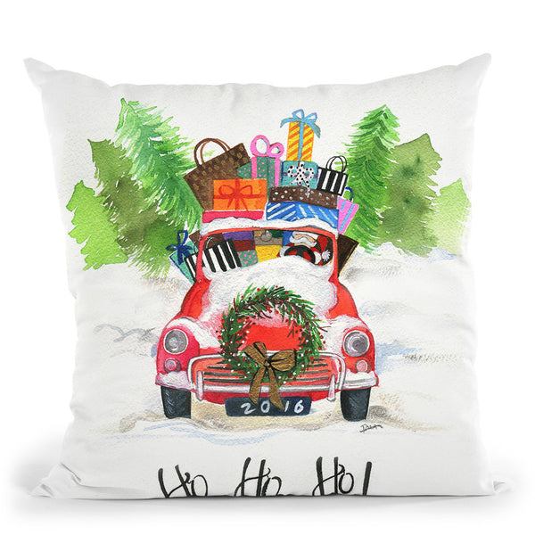Ho Ho Ho Throw Pillow By Rongrong