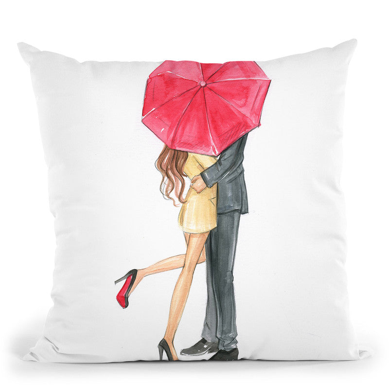Love In The Air Valentine'S Day Throw Pillow By Rongrong