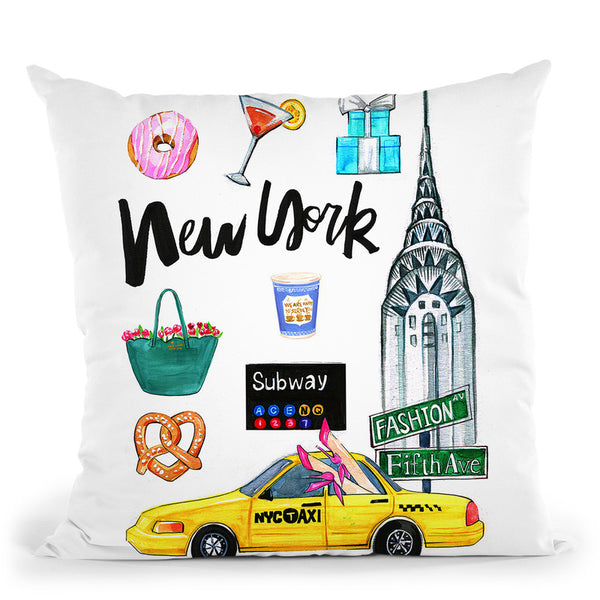 New York City Throw Pillow By Rongrong