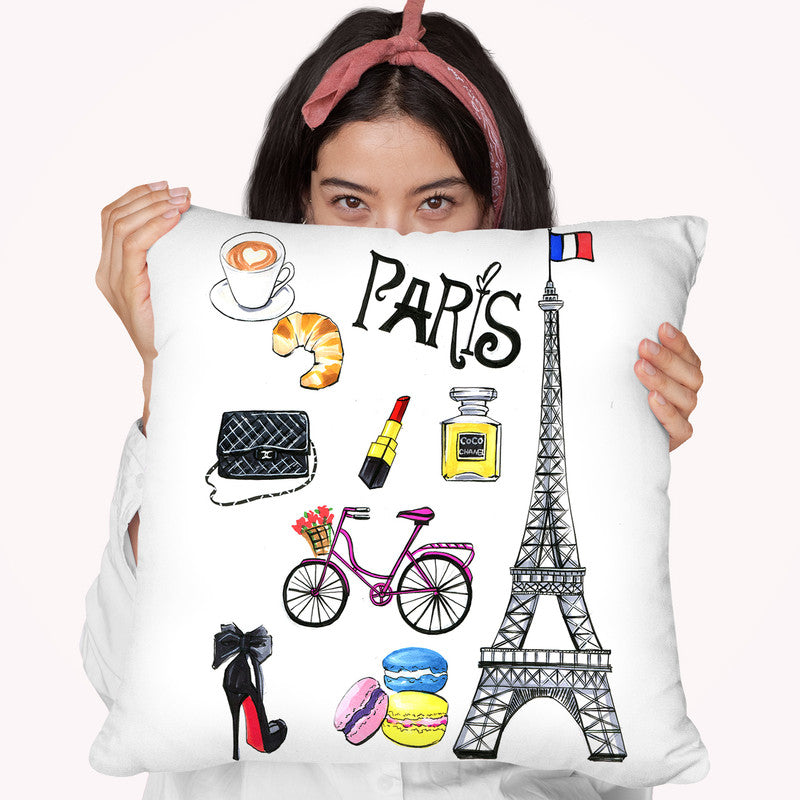 Paris Art Throw Pillow By Rongrong