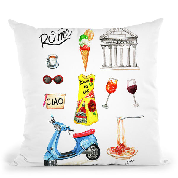 Rome Throw Pillow By Rongrong
