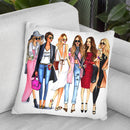 Stylish Ladies Throw Pillow By Rongrong