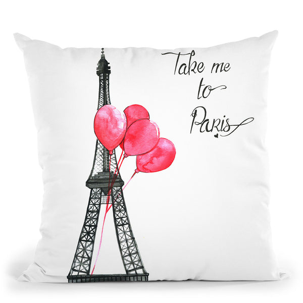 Take Me To Paris Throw Pillow By Rongrong