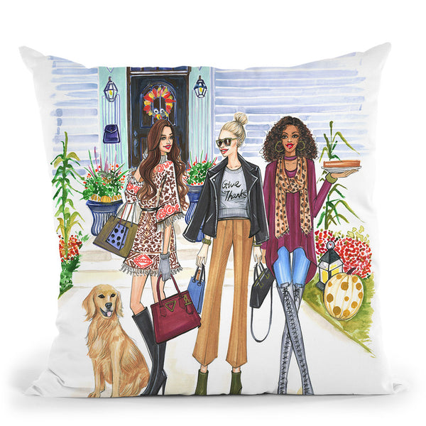 Thanksgiving Throw Pillow By Rongrong