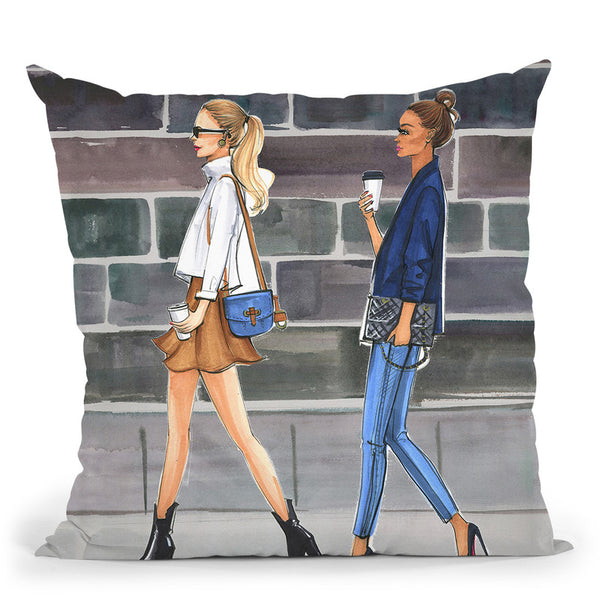 Tuesday Coffee Throw Pillow By Rongrong