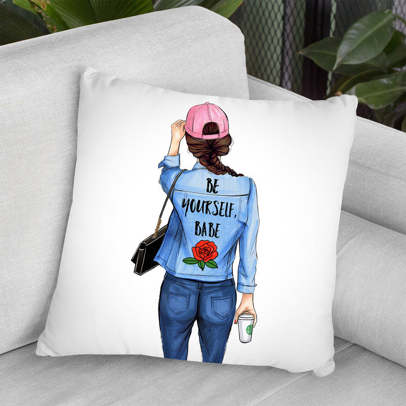 Be Yourself Babe Throw Pillow By Rongrong