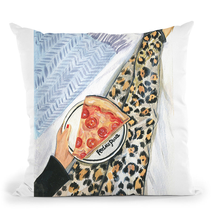 Feed Me Pizza Throw Pillow By Rongrong All About Vibe