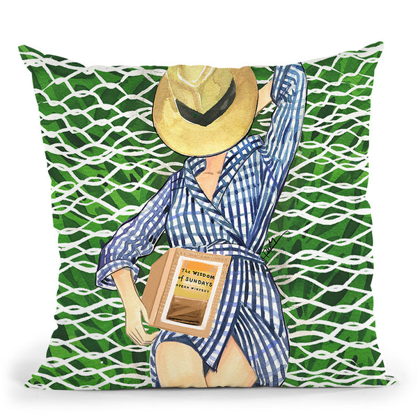 Lazy Sunday Throw Pillow By Rongrong