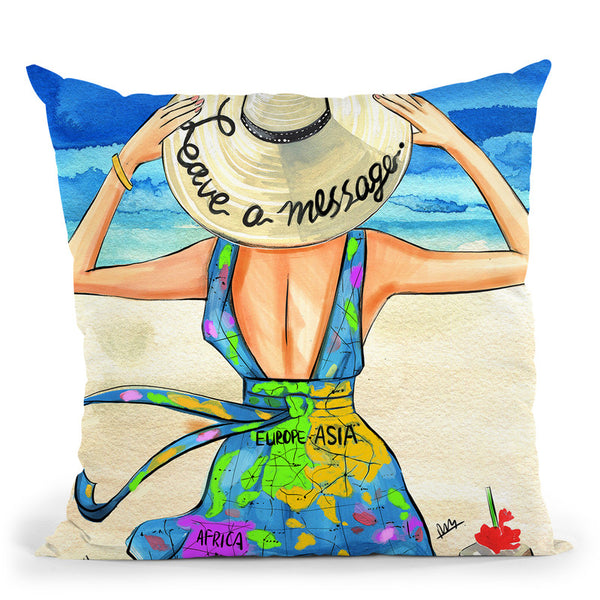 Leave A Message Throw Pillow By Rongrong