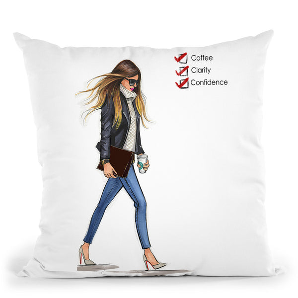 Monday Checklist Throw Pillow By Rongrong