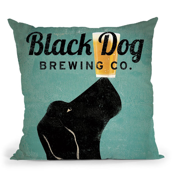Black Dog Brewing Co V2 Throw Pillow By Ryan Fowler