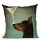 Doberman Martini Throw Pillow By Ryan Fowler