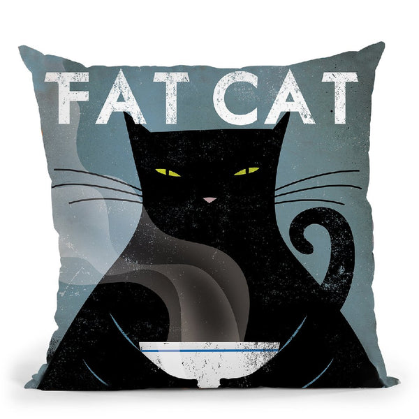 Cat Coffee No City Throw Pillow By Ryan Fowler