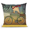Pug On A Bike Throw Pillow By Ryan Fowler