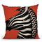 Zebra Wow Throw Pillow By Ryan Fowler