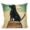 Black Lab Whiskey Throw Pillow By Ryan Fowler
