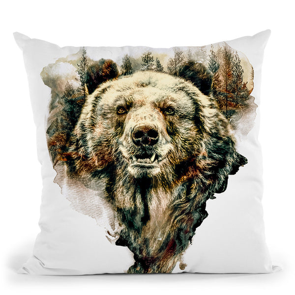 Bear Throw Pillow By Riza Peker