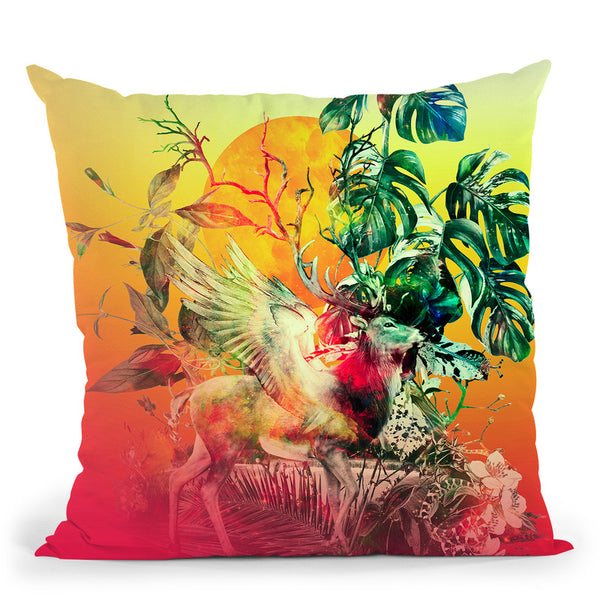 Deer Vii Throw Pillow By Riza Peker
